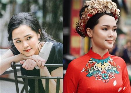 Một số ý kiến còn chỉ trích make-up vì khiến Quỳnh Anh như 'trét một tấn phấn lên mặt', hình ảnh trước đây và sau make-up cho lễ ăn hỏi của Quỳnh Anh khiến nhiều người hết hồn