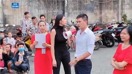 Đi từ thiện cùng chồng ngay sát Tết, Thủy Tiên bị fan trêu 'xài hao quá' vì mái tóc bạc của Công Vinh 2
