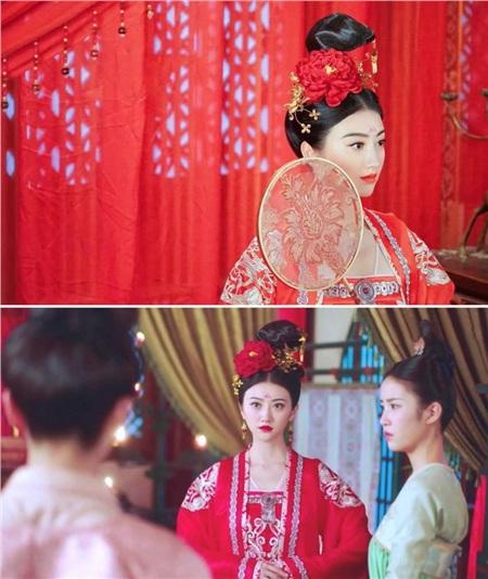 Vai diễn Thẩm Trân Châu của Cảnh Điềm trong Đại đường vinh diệu là một tiểu thư khuê các. Khi Thẩm Trân Châu khoác lên mình bộ lễ phục màu đỏ trong ngày xuất giá, cô nàng vừa xinh đẹp nhưng cũng vừa quyến rũ, làm cho chàng trai nào nhìn cũng muốn che chở.
