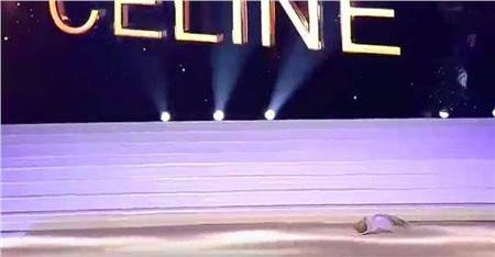 Chiếc áo lót vẫn nằm ngay ngắn ở trên sân khấu, dù Celine Van Ouytsel đã hoàn thành xong phần dự thi của mình.