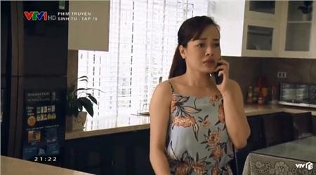 Hoàng khuyên vợ trốn nhanh trước khi bị Vũ cho người đến bắt cóc.