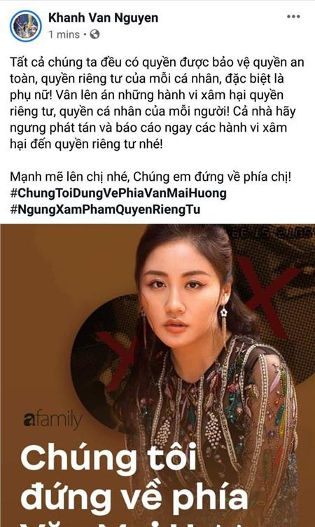 Dàn Hoa hậu 'hot' nhất showbiz Việt đã chính thức bước vào cuộc đấu tranh vì quyền riêng tư, công khai ủng hộ Văn Mai Hương quyết liệt 2