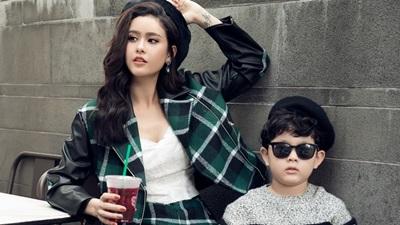 Lần đầu tiên Trương Quỳnh Anh chụp ảnh thời trang cùng con trai