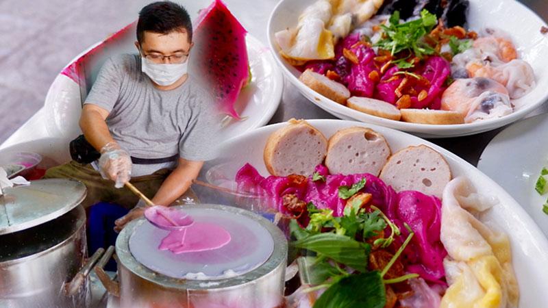 Bánh cuốn thanh long xuất hiện ở Vũng Tàu, thực khách rần rần đến nếm thử và ủng hộ ông chủ trẻ