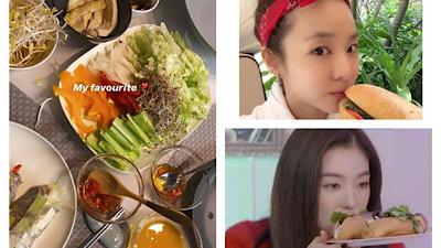 Sao Hàn check-in cùng đồ ăn Việt Nam: Bánh mì, gỏi cuốn được 'mê' nhiều nhất